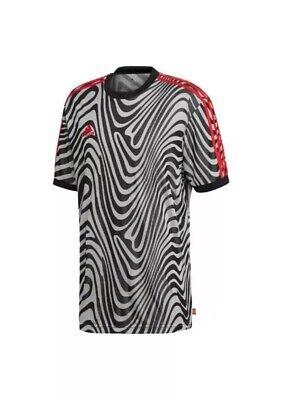 f0079262 Mens BNWT Zebra Striped Adidas Originals TAN ANT Soccer Training Jersey  size M