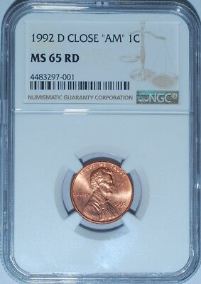 1992 D NGC MS65RD Red FS-901 Close AM Transitional Reverse Tied For Finest