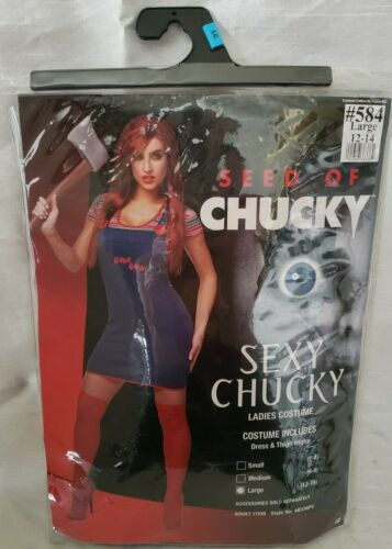 Womens Sexy Chucky Halloween Costume (Large)