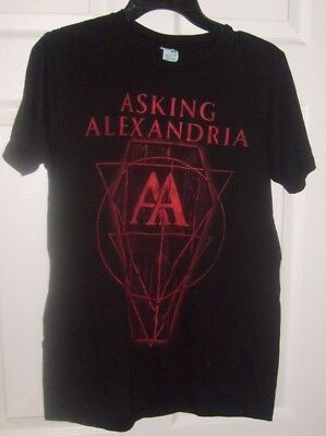 Asking Alexandria Aa Black Mens Size Medium T Shirt New Spencers