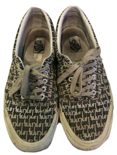 Fear Of God FOG Vans Era 95 BEATERS Size 11 Authentic Marshmallow Black Preowned