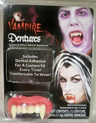 Big Bubba Vampire Teeth Halloween Costume Accessory Fake Fangs Dentures - Big White Teeth Halloween