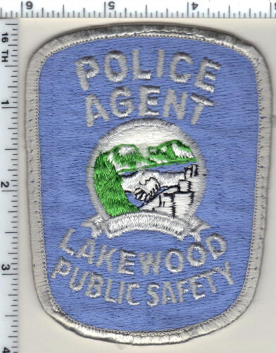 Police Agent Lakewood Public Safety (Colorado) Uniform Take-Off Patch from 1985