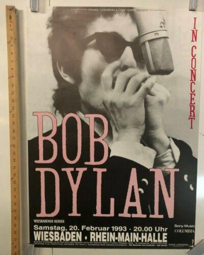 Bob Dylan In Concert German Tour Poster 1993 In Weisbaden @ Rhein Main Halle