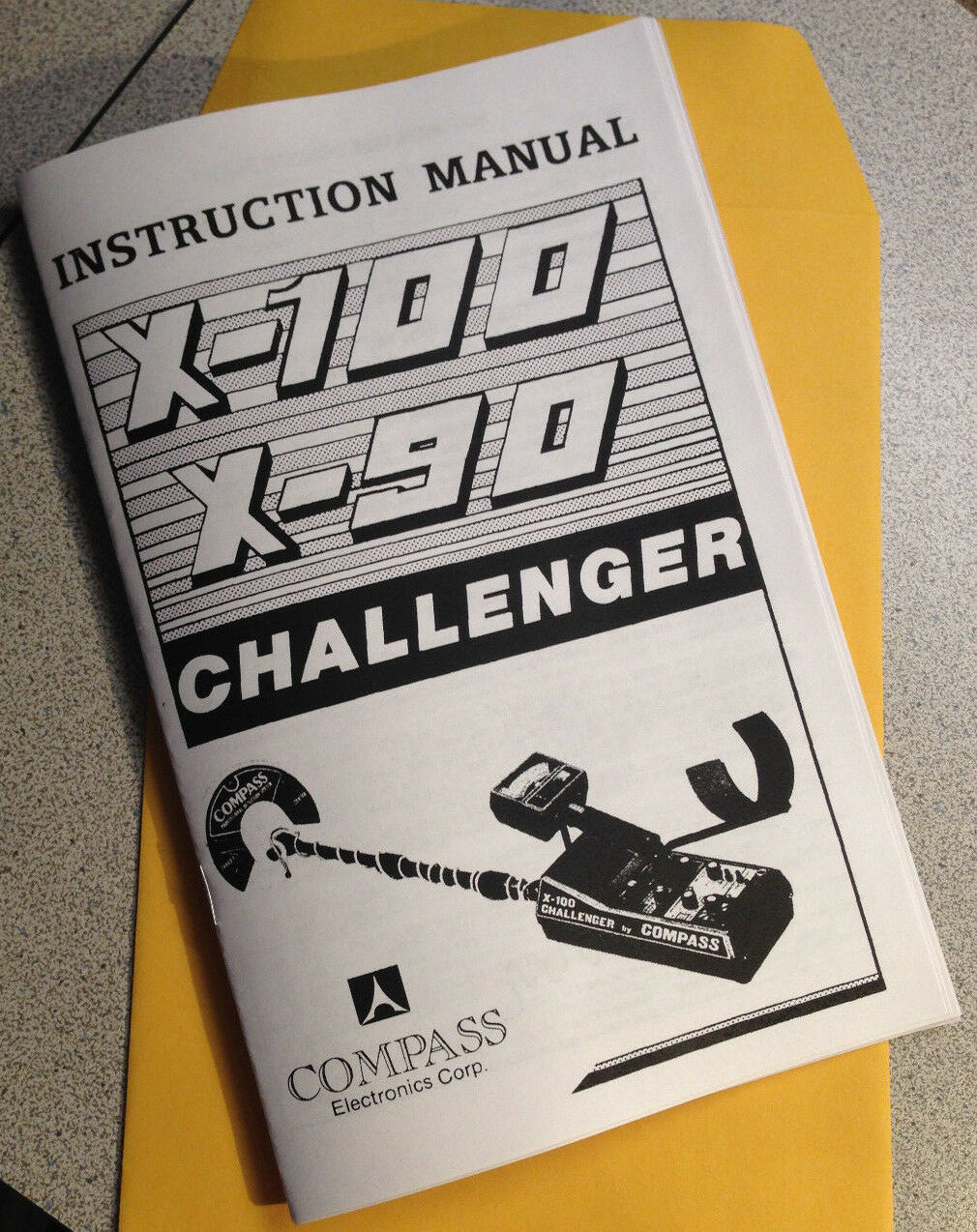 Compass Metal Detector Instruction Manual X-100, X-90 Challenger Find Treasure