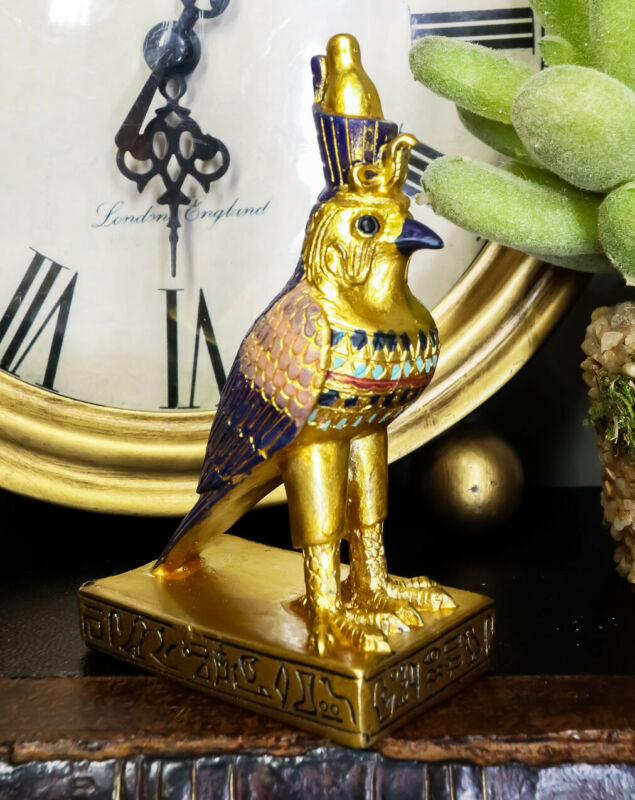Egyptian God Of The Sky And War Horus Falcon Bird Dollhouse Miniature Statue