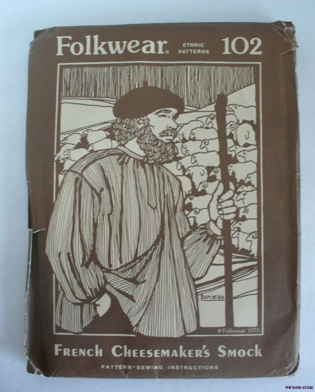Folkwear Ethnic Costume Pattern Halloween French Cheesemakers Smock 102 Uncut