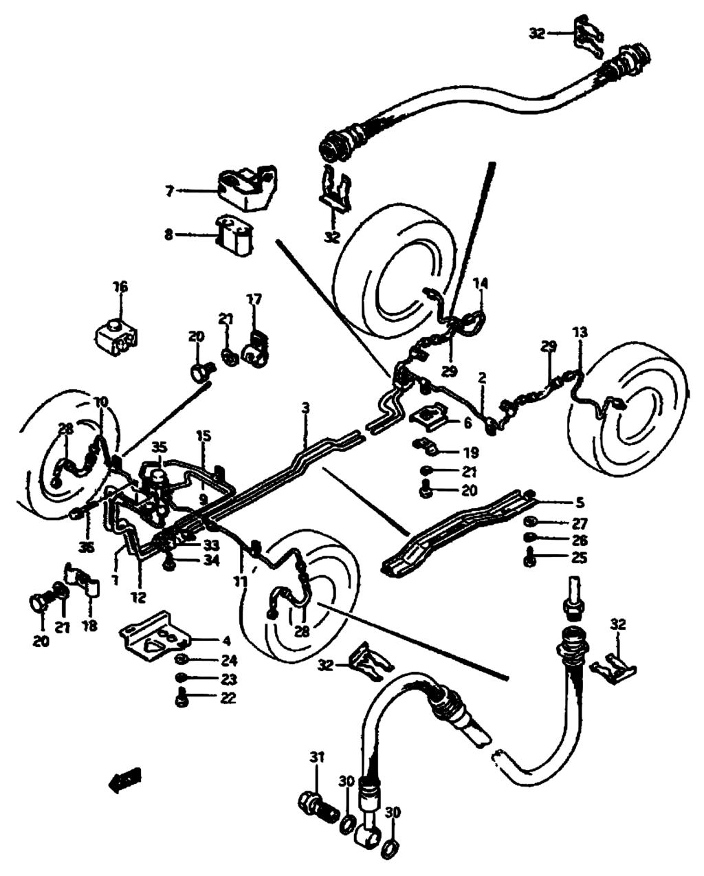 NEW Brake Proportioning Valve for Suzuki SA310 85-88