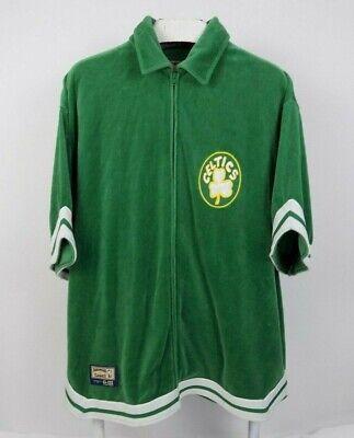 Boston Celtics Hardwood Classic Mens Green Warm Up Jacket Size XL (Green Classic Warm Up Jacket)
