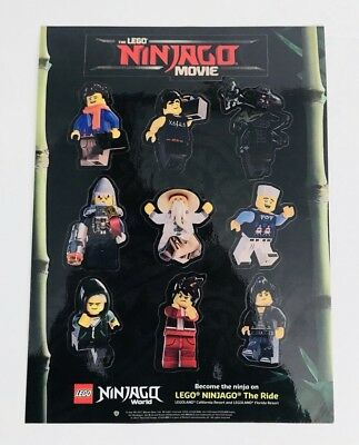 Lego Ninjago Stickers 10 Sheets Movie Party Favors Teacher Supply Scrapbook New