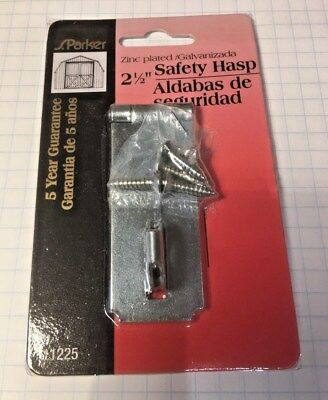 "S. Parker Single Link 2 1/2"" Safety HASP/Great for Baby Proofing"