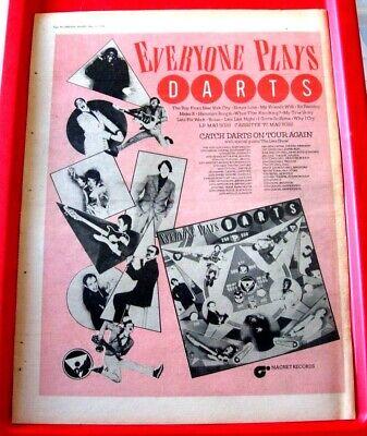 Darts Everyone Plays/UK Tour Vintage ORIG 1978 Press/Magazine ADVERT Poster-Size