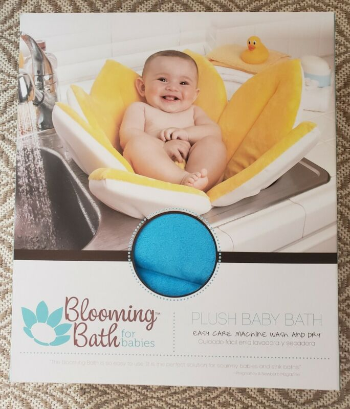 Blooming Bath Lotus Baby Bathing Mat Flower Bath Turquoise New in Box Authentic