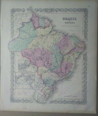 fine art print fine reproduction oversize map print antique 1932 Old city plan of Rio de Janeiro large map