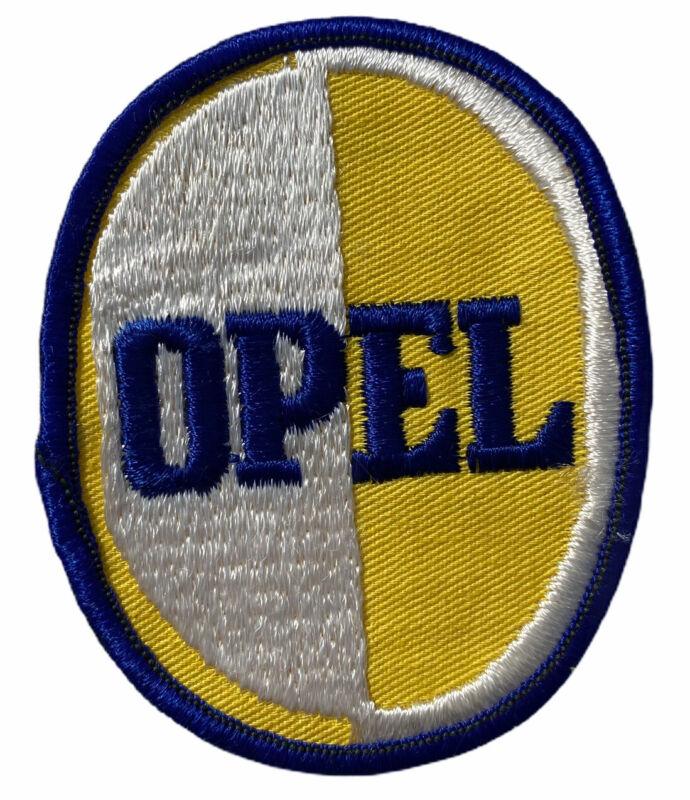 "Vintage Opel Automotive Jacket Hat Sew On Patch 2 3/4 X 3 1/2 ""  NEW NOS"