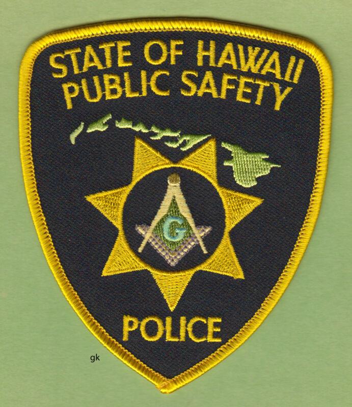 HAWAII PUBLIC SAFETY MASON MASONIC POLICE SHOULDER PATCH