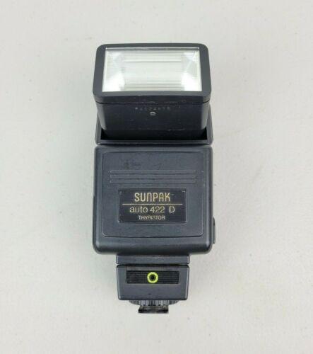 Sunpak Auto 422 D Thyristor MX-2D Speedlight Flash for Canon Cameras Photography
