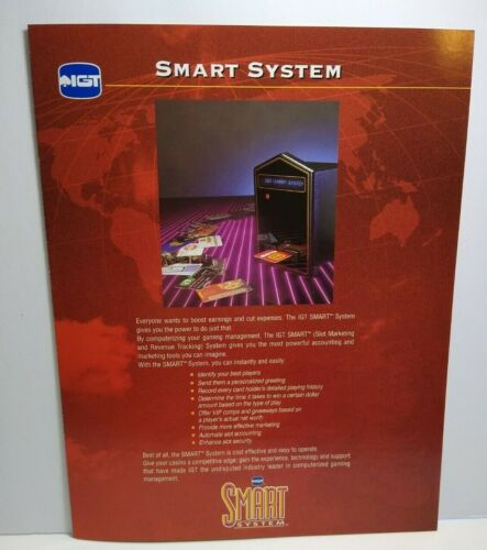 IGT Slot Machine FLYER Smart System Casino Foldout Brochure Advertising Sheet