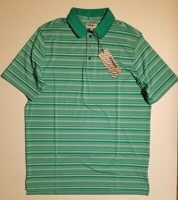 Chase 54 Green Striped Golf Polo L XXL *NEW WITH TAGS* Christmas Gift ()