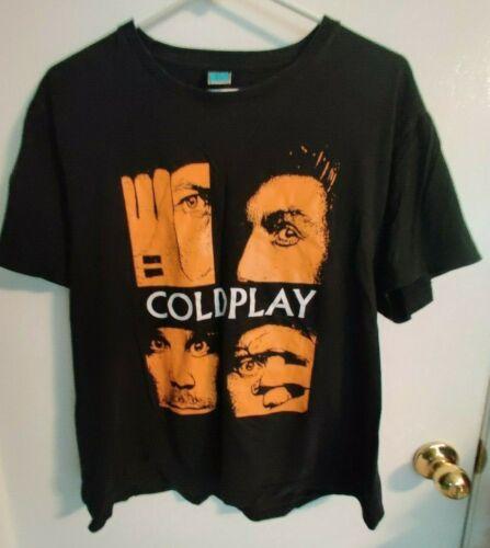 Vintage Coldplay Parachutes Era Youth Black T-Shirt XL Extra Large