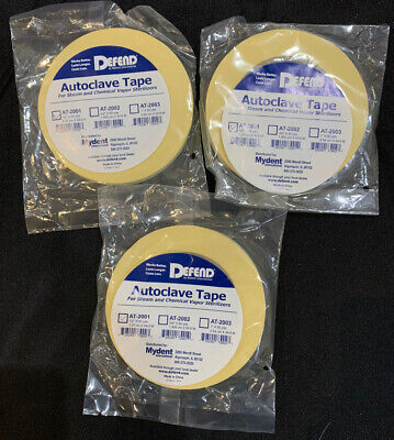 Autoclave Tape 12inch By 60yds 3 Rolls