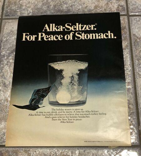 "Vintage 1967 Life Magazine Alka-Seltzer Holiday Season Print Ad 10 1/2"" x 14"""