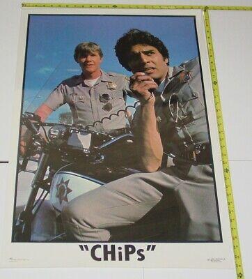 Chips TV Show 1977 Vintage Poster Dargis Estrada Ponch Cop Police Motorcycle