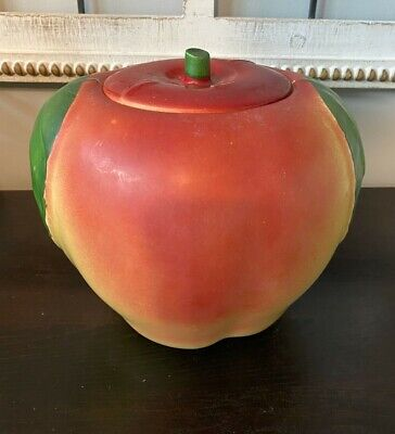 HULL BLUSHING APPLE COOKIE JAR ? 1940'S