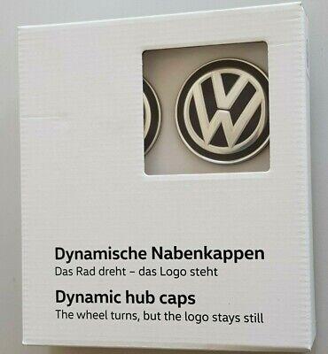 original VW Radnabenkappen für Alufelgen dynamische Nabenkappen 4 Felgendeckel