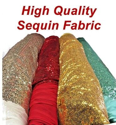 Backdrop Shinny Glitz Sequin Fabric (3mm) Sequin on Poly Mesh 54