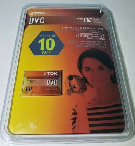 Lot 10 TDK DVC Camcorder Cassette Tapes DVC 60 Minute NEW