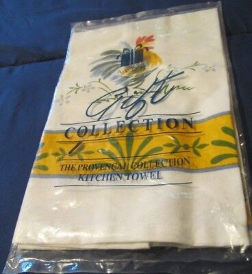 AVON Provencal Power Collection Kitchen Towel Country Rooster Farmhouse Decor