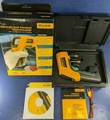 Brand New Fluke 566 Infrared And Contact Thermometer Original Box