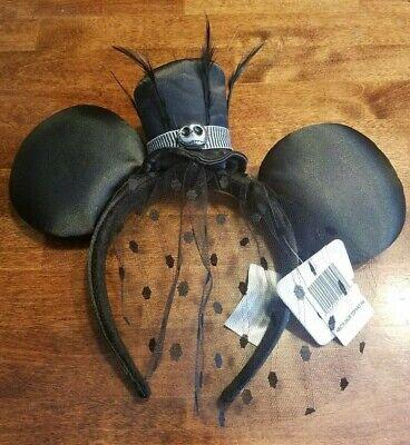Nightmare Before Christmas Top Hat (Disney Parks Nightmare Before Christmas Jack Skellington Top Hat Ears)