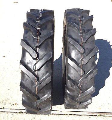 Two 5.00-15 Bkt Tires Lug Hay Rake Compact Tractor Tire Lug 500 15 R1 500-15 Lug
