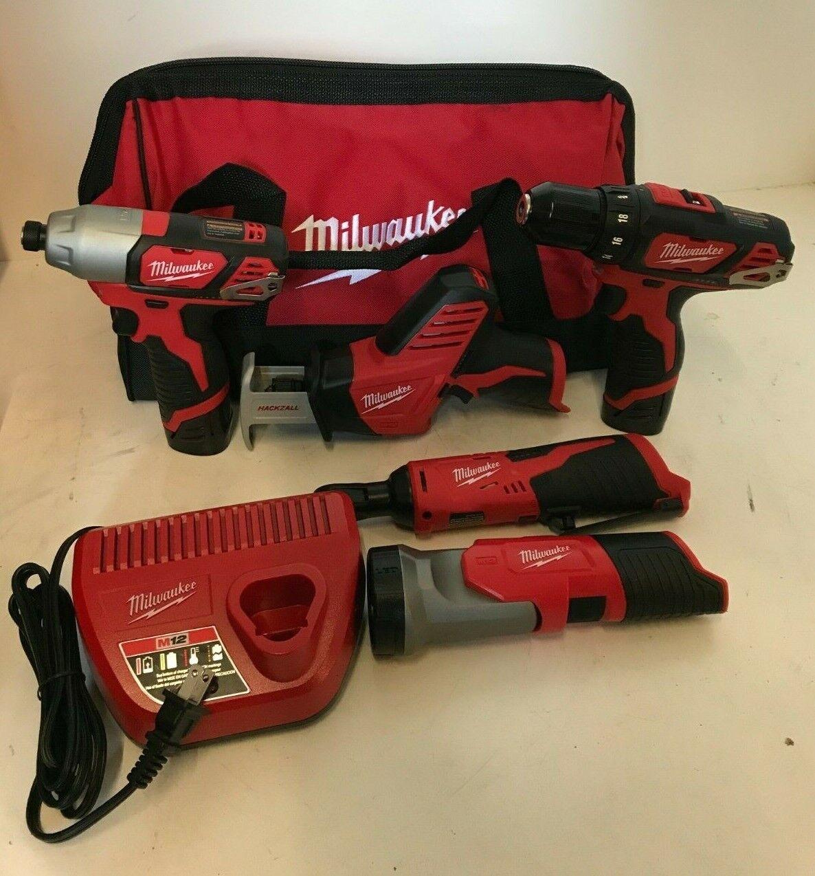 Milwaukee 2498-25 M12 Li-Ion 5-Tool Combo Kit, N