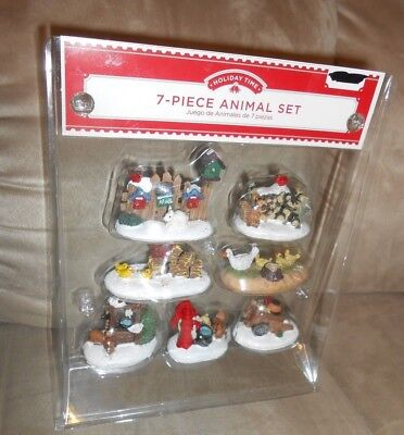 Holiday Time 7-Piece Animal Set for Train/Christmas Village
