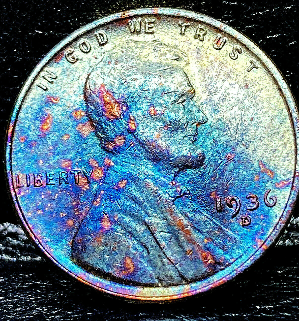 1936 D Lincoln Wheat Penny Cent- Beautifully Toned SUPERB MS GEM BU 04 - $16.00