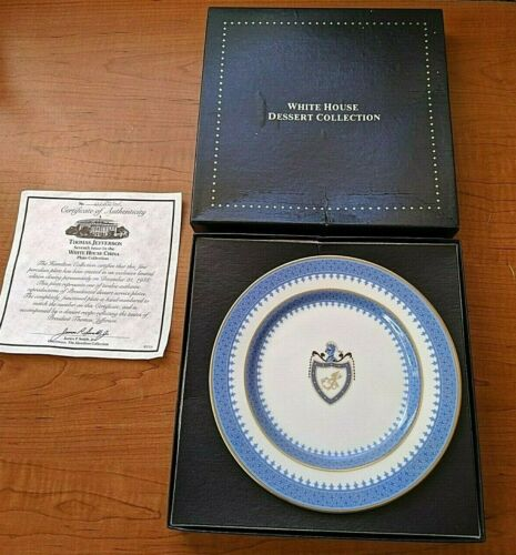 Woodmere White House Dessert Collection Plate - Thomas Jefferson w/ CoA