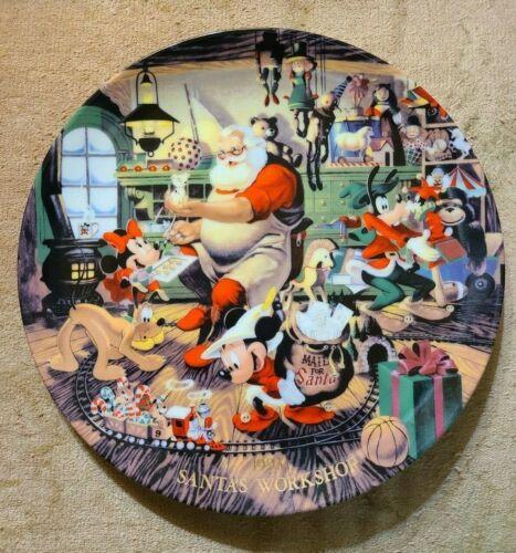 Disney Christmas 1993 Santa's Workshop Plate - Vintage