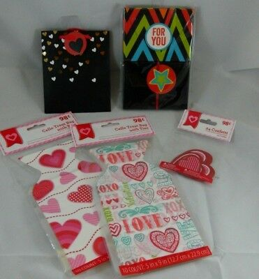 Valentines Day Party Celebration Bundle Cello Bags Gift Card Holders Confetti](Valentines Day Gift Bags)