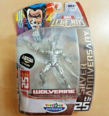 Marvel Legends Toys R Us Exclusive SILVER WOLVERINE 25th Anniversary Limited