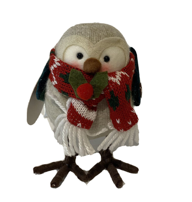 Holiday Christmas Winter Bird With Scarf New