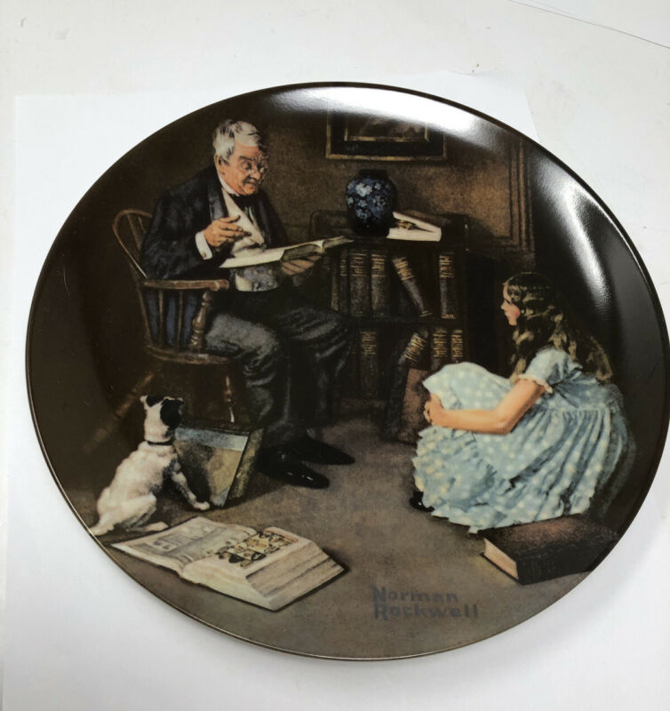Norman Rockwell Plate 1984 The Storyteller 8th In The Heritage Collection #X6522