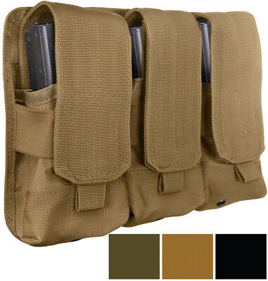 Universal Triple Mag Pouch Belt Rifle Gun Magazine Case Cover with MOLLE Straps