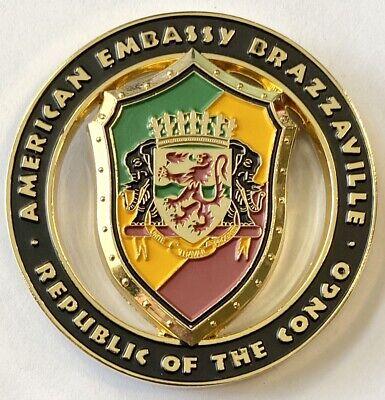 USMC MSG-Det Marine Security Guard Detachment Brazzaville, Congo Challenge Coin
