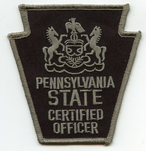 PENNSYLVANIA PA STATE CERTIFIED POLICE PATCH