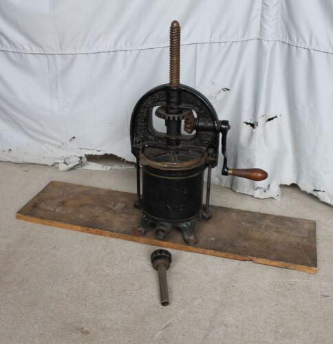 Antique Enterprise Cast Iron Sausage or Lard Press