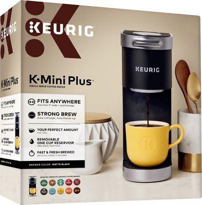 Keurig, K-Mini Added, Single Serve K-Cup Coffee Maker, Matte Black | BRAND NEW