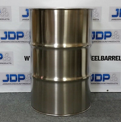 55 Gallon Stainless Steel Barrel Drum Closed Top 1.2mm Thick New 16 Pack